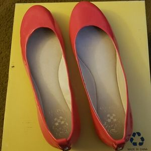 Vince Camuto Pink Patent Leather Ballet Slippers